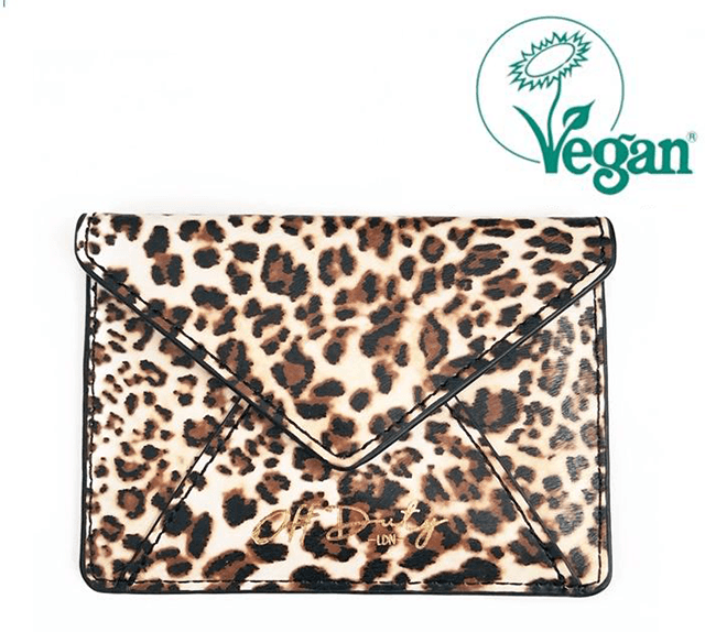 Aamu Envelope Travel Card Holder Z7 Leopard Print