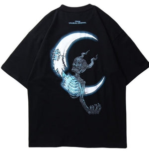 UNUSUAL ORIGINAL SKULL MOON T-SHIRT