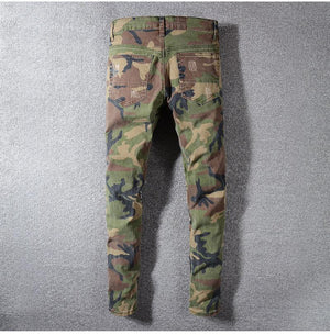 CAMO PUNK MULTIPATCH JEANS