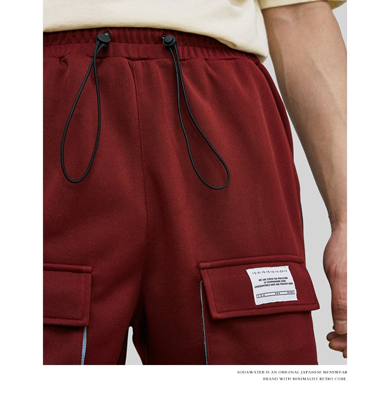 DOUBLE FRONT POCKET JAGGY SWEATPANTS
