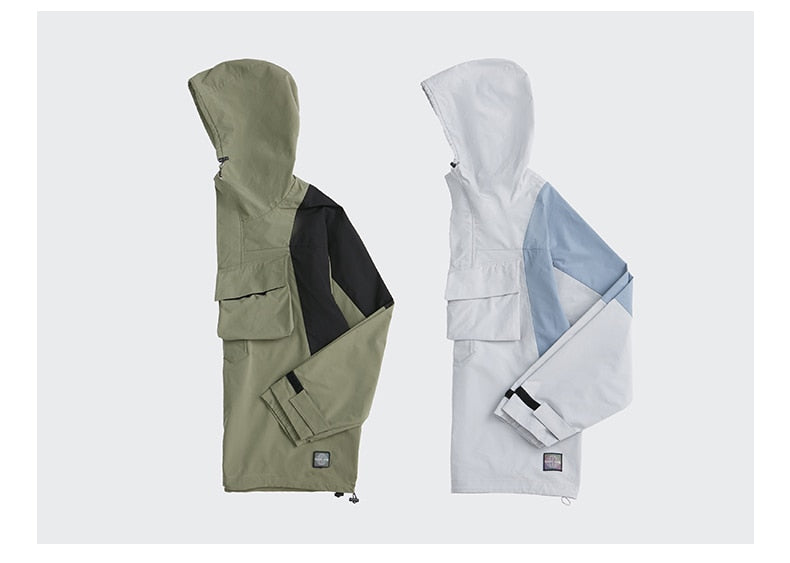 Windproof Multi-Pocket Tracksuit