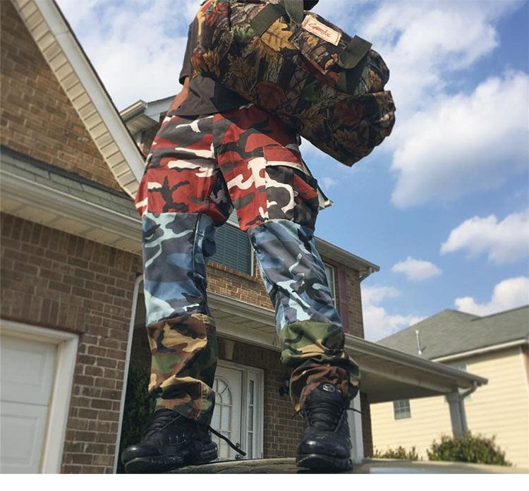 TRICOLOR CAMO JOGGERS - dacultureclothing