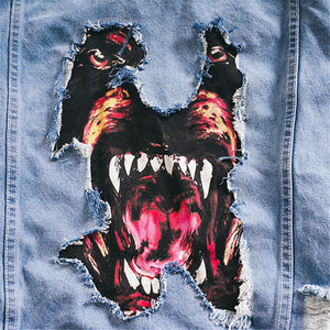 ANGRY DOG DENIM JACKET - dacultureclothing