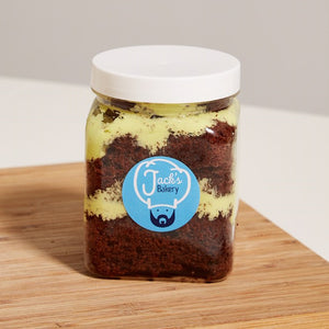 Mint Chocolate Cake Jar
