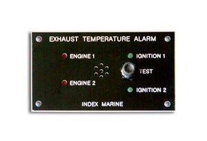 Index Marine C2806 Exhaust Temperature Alarm Panel with 2 sensors