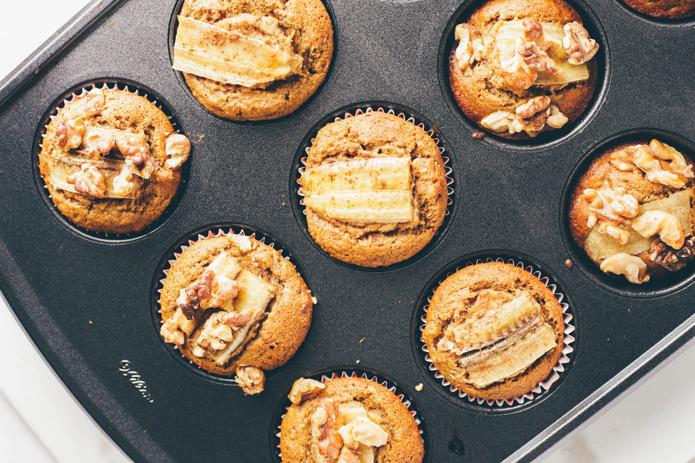Banana Nut Collagen Muffins