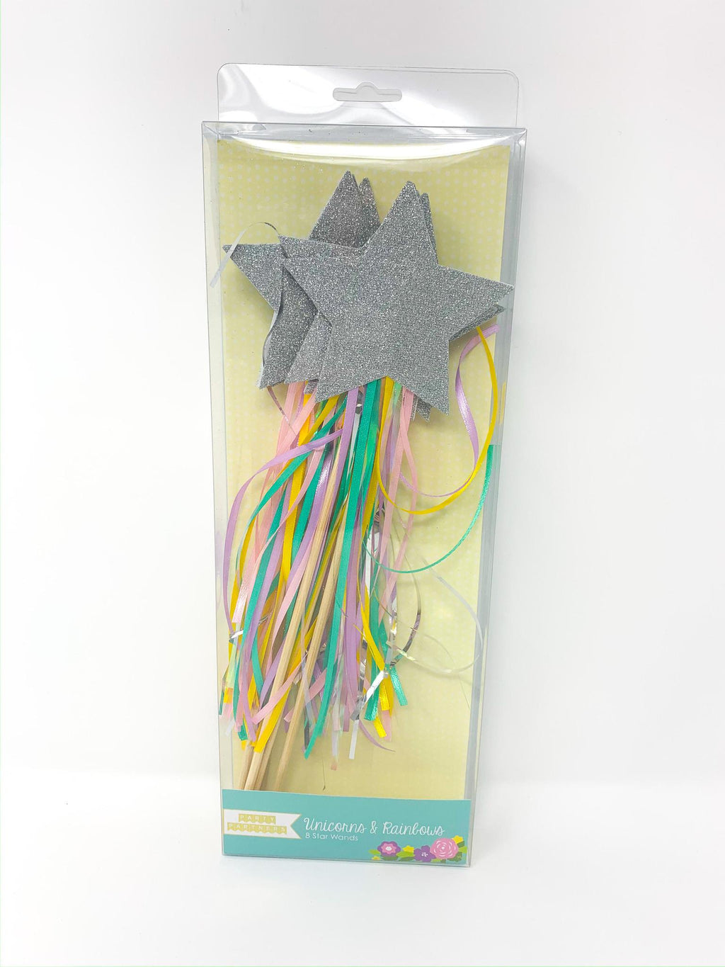 GLITTER RAINBOW STAR WANDS