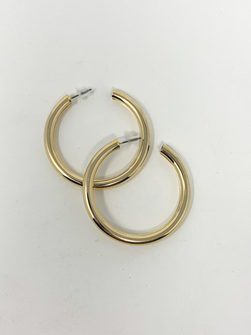 TUBE GOLD HOOPS