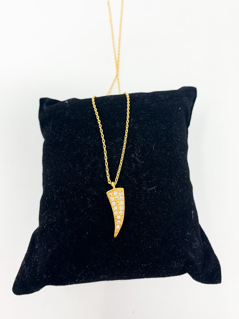 CRYSTAL TOOTH NECKLACE