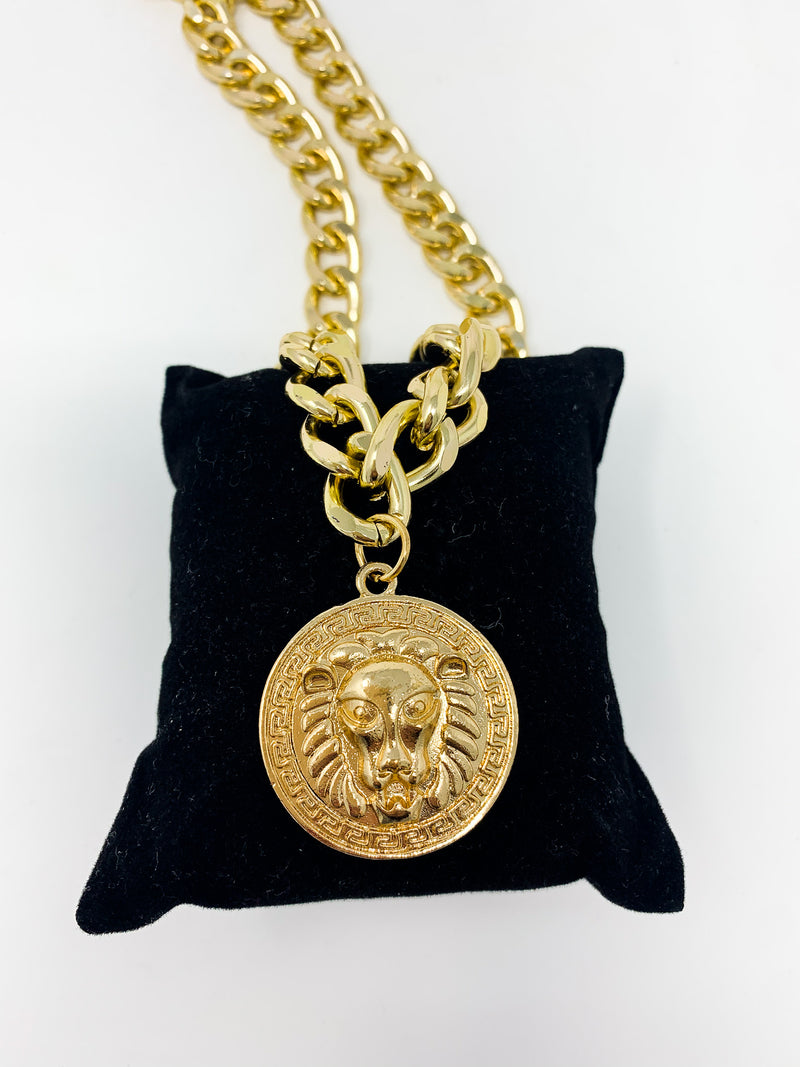 LION COIN CHAIN NECKLACE