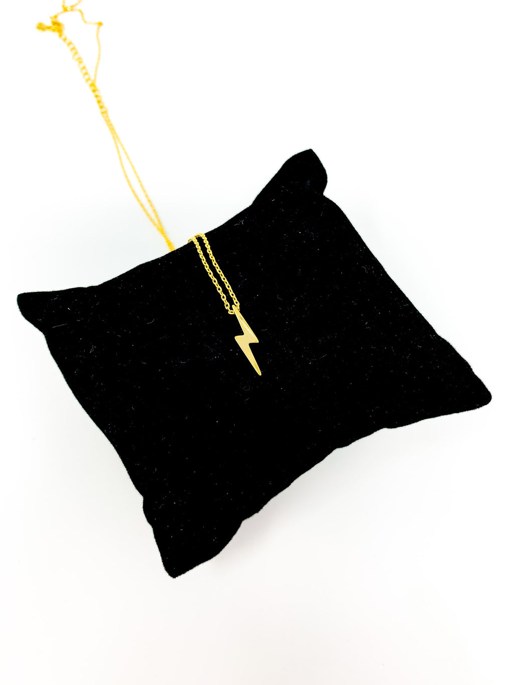 GOLD DIPPED LIGHTNING BOLT NECKLACE