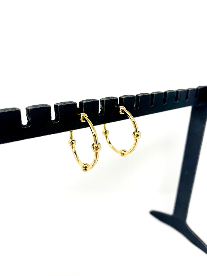 GOLD DOT HOOPS