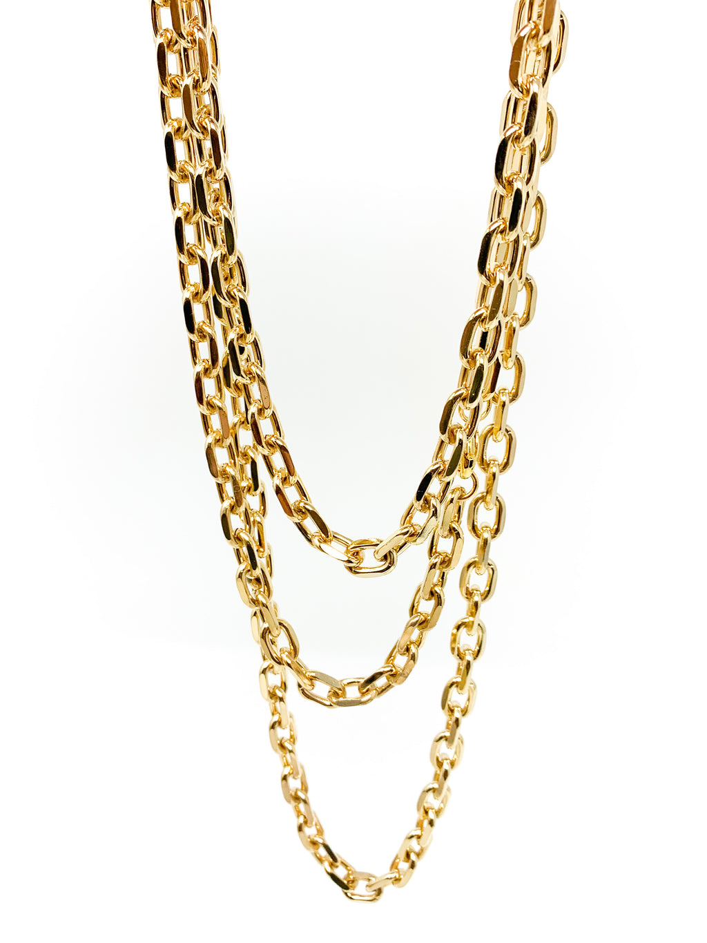 GOLD CHUNKY LAYERING NECKLACES