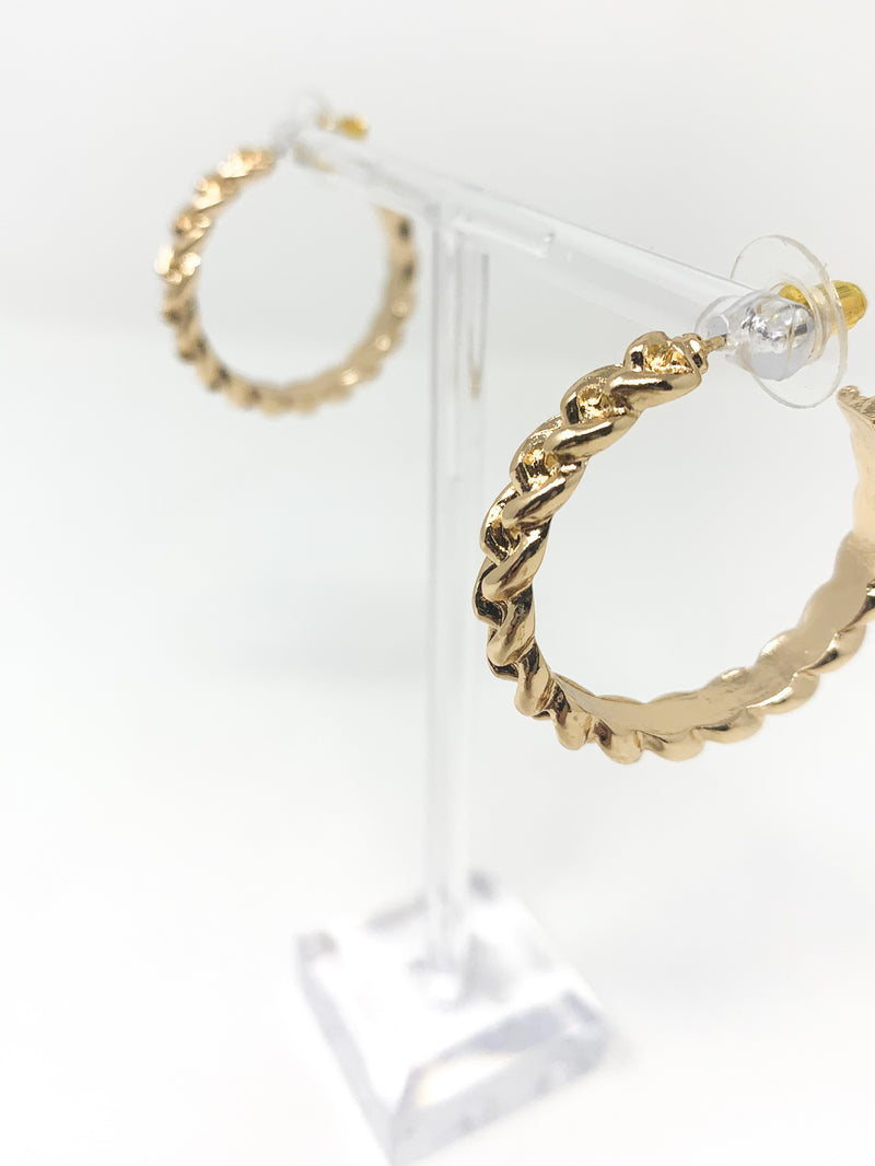 GOLD CHAIN HOOP