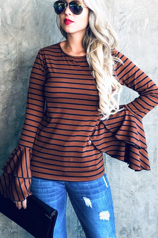 The Stevie Double Bell Sleeve Top