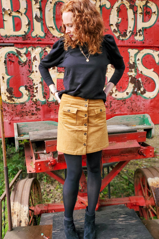 The Hayden High Waist Corduroy Skirt