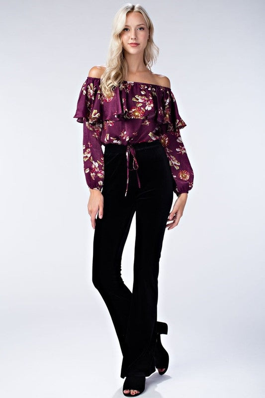Wild Honey Floral Festival Crop Top