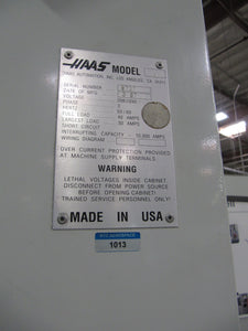 "HAAS VF-4 CNC 50""x20"" Vertical Mill, 4th-Axis Ready, 15HP, 20-ATC"
