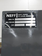 "Load image into Gallery viewer, NEFF 7-Ton C-Frame Hydraulic Press, 15"" Daylight"
