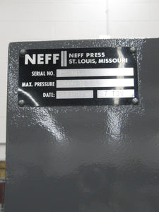 "NEFF 7-Ton C-Frame Hydraulic Press, 15"" Daylight"