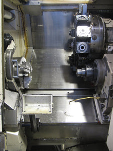 OKUMA Captain-L370MW Big Bore CNC Lathe w/ Live Tooling & Sub-Spindle