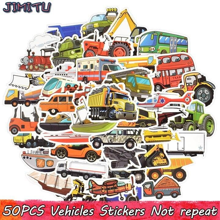 50PCS Cartoon Car Stickers