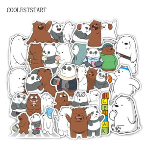 36PCS Bears Cartoon Stickers