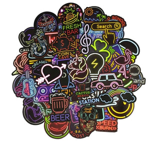 NEON Stickers 50PCS