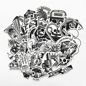 TD ZW 29Pcs/lot Old School Stickers For Snowboard Laptop Luggage Car Fridge DIY Styling Vinyl Home Decor Pegatina