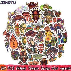 50PCS Tribal Stickers