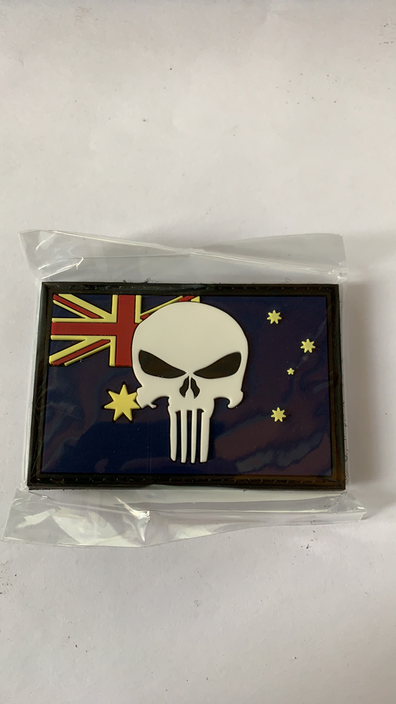 Australian Punisher Flag Velcro Patch - Command Elite Hobbies