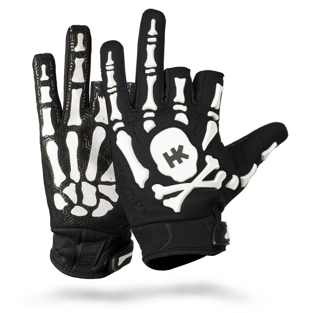 HK ARMY Bones Gloves - White - Command Elite Hobbies