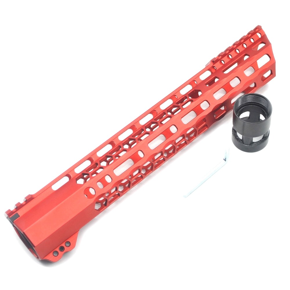 MLOK HANDGUARD - NSR FREE FLOAT RED - Command Elite Hobbies