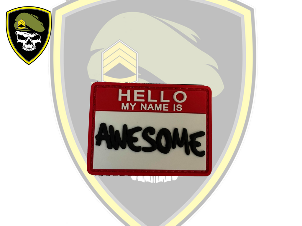 Hello, My name is Awesome Velcro Patch - Command Elite Hobbies