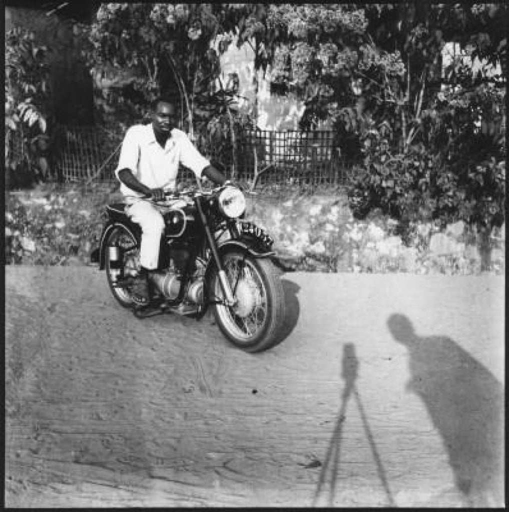 Jean Depara - Motorcycle And Autoportrait