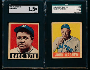1940s Mini-Mixer Break featuring 1948 Leaf Babe Ruth (35 spot break)