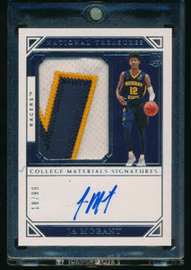 2019-20 National Treasures   JA MORANT RC Auto Patch RPA /99  14103
