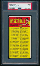 Load image into Gallery viewer, 1969-70 Topps Basketball 99 Checklist 1-99  PSA 5 EX 14174