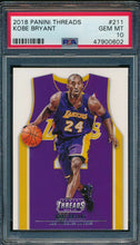 Load image into Gallery viewer, 2018-19 Panini Threads 211 Kobe Bryant  PSA 10 GEM MINT 14907
