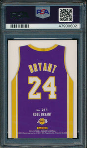 2018-19 Panini Threads 211 Kobe Bryant  PSA 10 GEM MINT 14907