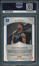 Load image into Gallery viewer, 2019-20 Prizm Draft DP 51 Zion Williamson Blue Wave PSA 10 GEM MINT 14900
