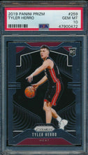 Load image into Gallery viewer, 2019-20 Prizm  259 Tyler Herro RC PSA 10 GEM MINT 14882