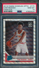 Load image into Gallery viewer, 2019-20 Donruss Optic 170 Cam Reddish Fanatics RC PSA 10 GEM MINT 14891