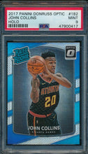Load image into Gallery viewer, 2017-18 Donruss Optic 182 John Collins Holo RC PSA 9 MINT 14868