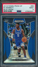Load image into Gallery viewer, 2019-20 Prizm Draft DP 66 RJ Barrett Blue RC PSA 9 MINT 14920