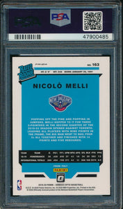 2019-20 Donruss Optic 163 Nicolo Melli Holo RC PSA 10 GEM MINT 14885