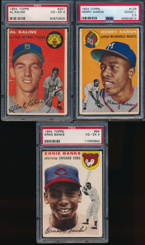 1954 Topps Complete Set Group Break #5 with Johnstons Cookies!