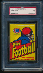 1981 Topps Football Wax Pack Group Break (15 Spot Break) #2