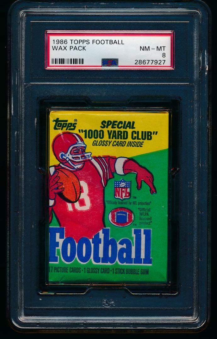 1986 Topps Football Wax Pack Group Break (17 Spots) #2