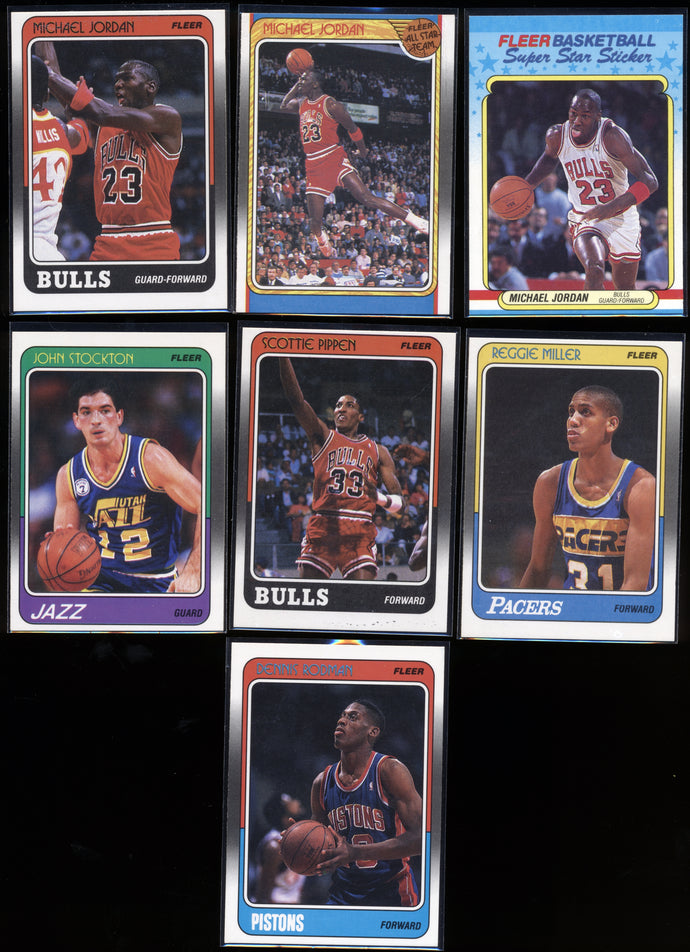1988 Fleer Basketball Compete Set Group Break #1 (with stickers) Limit 10